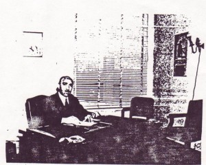 CL Dellums in his office