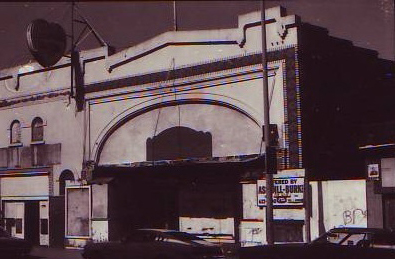 Front of Lincoln Theater, 1981