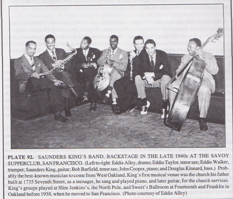 Saunders King's band, which played at Slim Jenkins Place